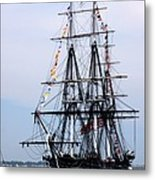 Uss Constitution Metal Print by Nancy A Santry
