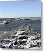 Uss Enterprise Arrives At Naval Station Metal Print