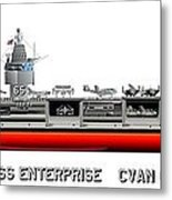 Uss Enterprise Cvn 65 1971-73 Metal Print