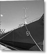 Uss Iowa Battleship Starboard Side Bw Metal Print