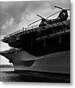 Uss Midway Helicopter Metal Print