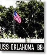 Uss Oklahoma Bb-37 Metal Print by Lisa Cortez