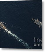 Uss Stockdale And The Canadian Frigate Metal Print