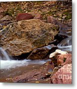 Utah Creek Cascades Metal Print