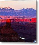 Utah Desert Sunset Panorama Metal Print