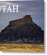 Utah Landscape Factory Butte Metal Print