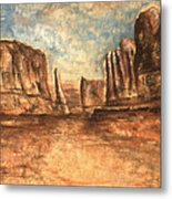 Utah Red Rocks - Landscape Art Metal Print