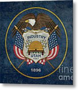 Utah State Flag Vintage Version Metal Print