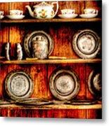Utensils - In The Cupboard Metal Print