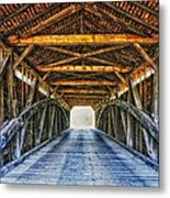 Utica Mills Covered Bridge Metal Print
