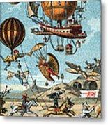 Utopian Flying Machines 19th Century Metal Print