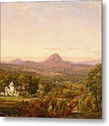 Autumn Landscape Sugar Loaf Mountain. Orange County  New York Metal Print