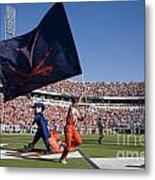 Uva Virginia Cavaliers Football Touchdown Celebration Metal Print