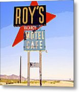Vacancy Route 66 Metal Print