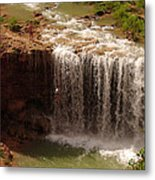 Vacation At Lower Navajo Falls Metal Print