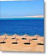 Parasol At Red Sea,egypt Metal Print