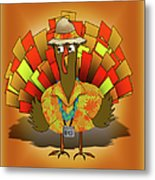Vacation Turkey Illustration Metal Print
