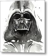 Darth Vader Watercolor Metal Print