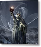 Light Of Liberty Metal Print