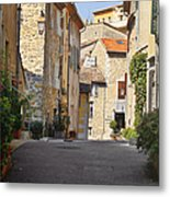 Valbonne - French Village Of Contradictions Metal Print by Christine Till
