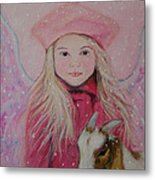 Valentina Little Angel Of Perseverance And Prosperity Metal Print by The Art With A Heart By Charlotte Phillips