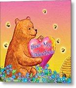Valentine Baby Bear Metal Print