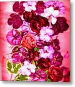 Valentine Flowers For You Metal Print