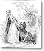 Valentines Day, 1855 Metal Print