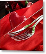 Valentine's Day Dinner Metal Print