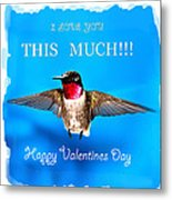 Valentines Day I Love You This Much Metal Print