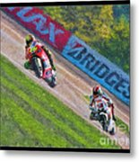 Valentino Rossi Leads Marco Simoncelli Metal Print