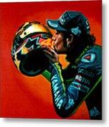 Valentino Rossi Portrait Metal Print