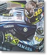 Valentino Rossi - The Doctor Metal Print