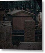 Valeria Butzloff Statue With Wreath Moonlight Near Infrared Metal Print