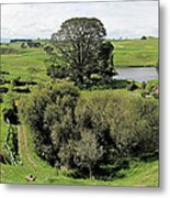 Valley At Hobbiton Nz Metal Print