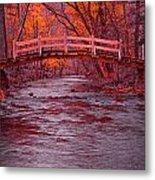 Valley Creek Bridge In Autumn Metal Print