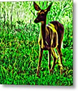 Valley Forge Deer Metal Print
