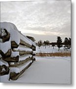 Valley Forge Winter 8 Metal Print