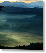 Valley In The Smokies Metal Print