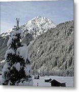 Valley In The Snow Metal Print