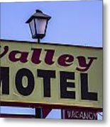 Valley Motel Metal Print