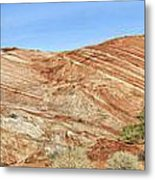 Valley Of Fire - Fire Wave Panorama Metal Print
