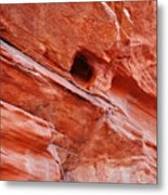 Valley Of Fire Mouse's Tank Sandstone Wall Metal Print