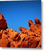 Valley Of Fire Nevada Desert Rock Lizards Metal Print