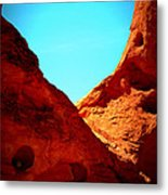 Valley Of Fire Nevada Desert Sand People Metal Print