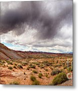 Valley Of Fire With Dramatic Sky Metal Print
