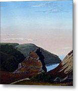 Valley Of Rocks Devon Metal Print