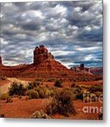 Valley Of The Gods Stormy Clouds Metal Print