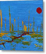 Valley Of The Red Moon Metal Print