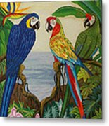 Valley Of The Wings Hand Embroidery Metal Print